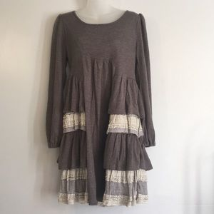 Ryu tunic/dress gray beautiful lace detail